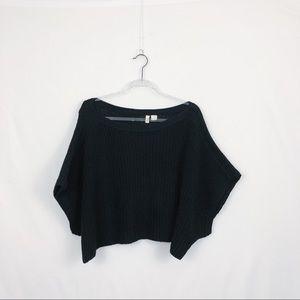 Anthropologie Moth Black boxy oversized sweater L